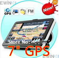Wholesale 7 quot GPS Navigator HD with FM Bluetooth AVIN GB Memory new D map DDR M