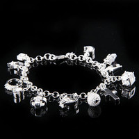 Wholesale Elegant Pretty Women s Charms Pandent Bracelets New Design Silver Bracelets Jewelry