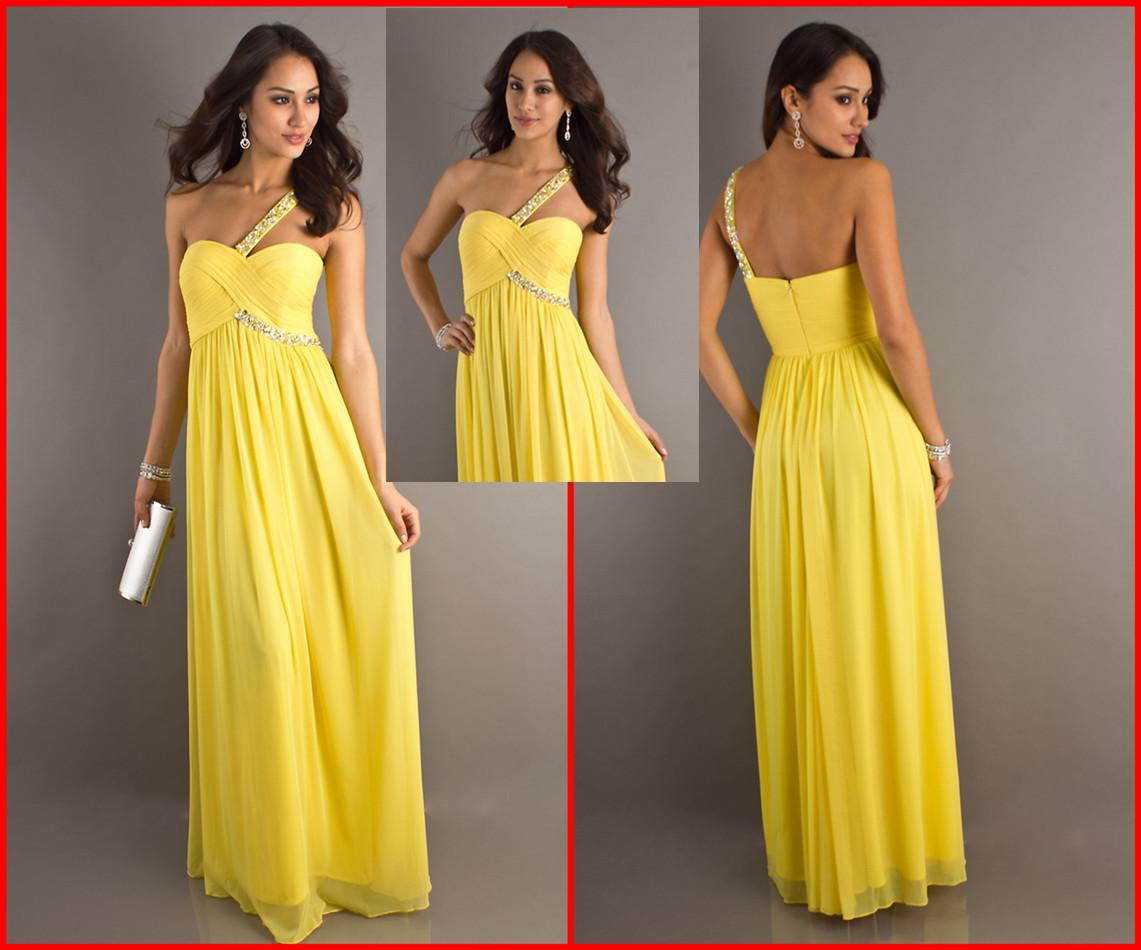 Yellow Lace Evening Gowns L96 Lace Formal Dresses