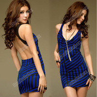 Wholesale Women s Korea Sexy Party Cocktail Mini Dress Backless Club Wear Tops Adeal