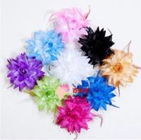 Clip & Pin Silk Flower  50pcs lot 9 colors Belly Dancing Tribal Party Wedding Costume Headdress Head Flower Pin Brooch Clip
