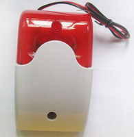 alarm boxes flashing - Alarm Bell Box new wired siren with red LED flash for home Wireless alarm system
