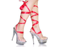 shoes size 5 women - NEWEST woman sexy Crystal strap Roman sandal cm transparent heel performance stage shoes size