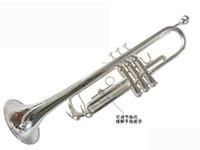 Wholesale new Bb trumpet silver plated three tone trumpet Bach trumpet