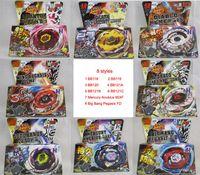 Wholesale 8 Styles Clash Metal D Beyblades Spinning Tops BB118 BB119 BB120 BB121A BB121B BB121C