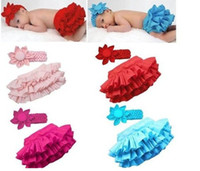 0-3 Months ar dress - Baby PP pants Flower headhand Baby girl Ruffle lace tutu skirt dress clothes set infant wear New ar