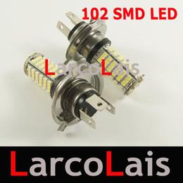 2PCS 102 LED H4 SMD 1210 Led Car Head Fog Light Bulb White 102-LED 3528 12V Auto Lights 102LED Bulbs