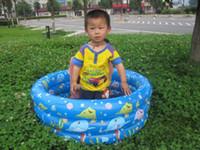 al por mayor piscinas niño inflable-Nuevos tubos de piscina inflable nadar anillos Baby Kids niño asientos jardín piscina divertida #3279