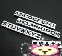 Collars bells jewellery - mm A Z MM Hollow letters slide letters DIY letter jewellery rhinestones