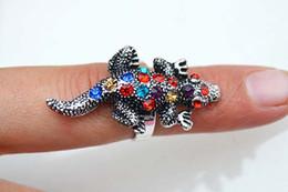 Rings Jewelry 12pcs Bulk Lots Charm animal CZ Rhinestone metal & antique brass Ring