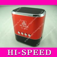 Wholesale SD Mini HiFi Portable Card Reader Speaker with USB Flash Drive Micro SD FM Radio Mix Color