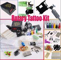 rotary tattoo kit - Rotary Tattoo Machine Gun Kits LED Power Supply Set Needles Steel Tips Accessories