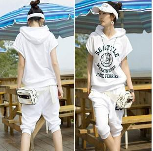 Korean Sweater Set 2011 Women Hoodie Black Jogging Suit Gym Outfit AA243 Online With $25.03 ...