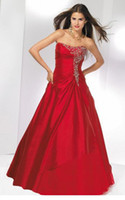 Wholesale Exquisite Embroidery Red Chinese Wedding Dress Bridal Ball Gown Prom Evening Dress CL2679