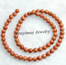 "16"" strand 6mm gold sand stone loose beads free ship, Pallisandro Classico beads, glidstone beads"