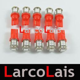 10pcs Red 5 SMD 5050 LED Lamp T10 W5W 194 168 3CHIPS Car Auto Light 5LED Lights Bulb 5-LED Bulbs Lamp