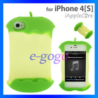 Wholesale New Mobile phone cover apple core soft slicone back case for iPhone s with Retail Package