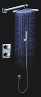 Wholesale 2011 New Arrival Wall Mounted LED Chrome Thermostatic Shower Faucet Set