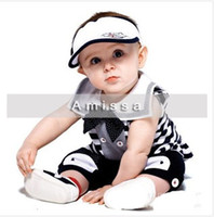 Wholesale Low price Promotion AMISSA beautiful baby suit put on a large collar cute boy clothes