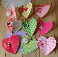 Wholesale Korean delicate creative triangle stereoscopic heart shape wishes card price little card p