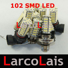 50pcs 102 LED 3528 1210 SMD Car Head Fog Light Bulb White Bulbs H1 H3 H4 H7 H8 H10 H11 9005 9006