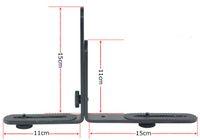 L-Brackets & Lens Collars   Adjustable Multifunctional L Dual-L Flash Bracket BK-13 For Camera & Video Light