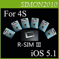 Wholesale R sim III Latest Gevey For iphone s support iOS S Unlock Sim Card Auto Signal NO
