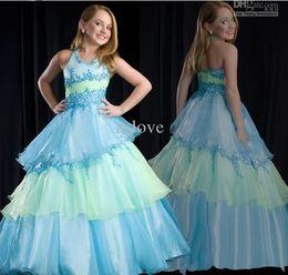 Wholesale Store Dresses Girls Wedding - Handmade 6 8 10 12 size in store - Designer Lovely Sweetly beaded flower gril dresses girl's pageant dresses Children Dress