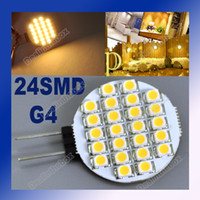 Wholesale G4 SMD LED Marine Camper Car Bulb Lamp Spotlight V Warm White Pure White Light