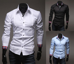 Wholesale 2012 New Fashion Style Men s Long Sleeve Shirts assorted colors Casual Slim Shirt