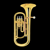 Wholesale best music Brass Super Bb BARITONE TUBA PISTON HORN W case in stock