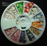 Wholesale Fimo Nail Art Nail Tip Polymer Clay DIY D Mix Tips UV Acrylic Decoration Wheel Animal Flower Fruit