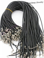 Wholesale 2mm Leather Necklace Cords Fashion Leather Rope With Lobster Clasp