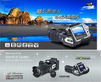 Wholesale 2012 New HD9100 Digital video camera Camcorder DV P HD MP X Zoom HD9100T support Dropship