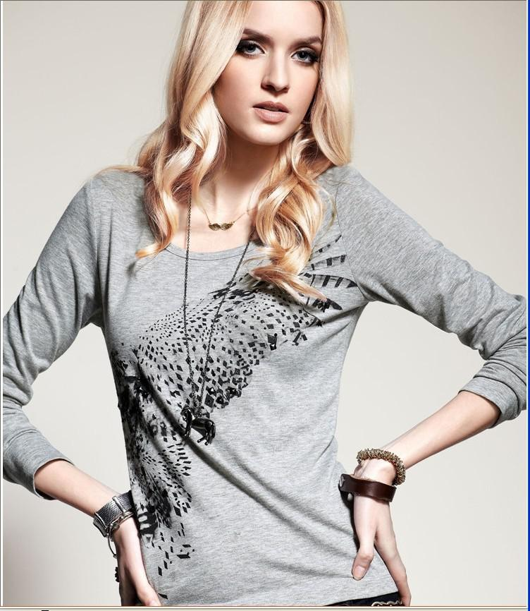 Wholesale - New women s clothing t-shirt long-sleeved soft comfortable