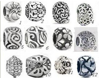 Wholesale Multi style and silver big hole beads for bracelets necklaces accessories
