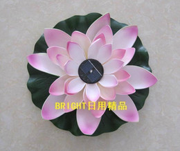 LED Solar lotus flower lights Floated drain lamp energy garden bulb Solar energy lamp lotus lamp