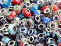 Wholesale Bulk Mixed Style Charms Bead DIY Lapwork Glass Silver P Beads