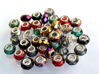 Wholesale Bulk Mixed Style Charms DIY Bead Crystal Colorful copper Silver Plated Beads