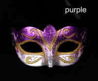 Wholesale promotion selling party mask new wedding gift gold fashion Venetian masquerade ball supply Hallween novelty christmas gift