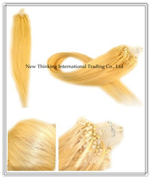 Wholesale 20inch g strand s lightest blonde Micro Ring Loop Hair Remy Hair Extensions Human Hair