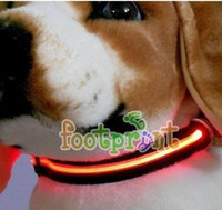 Wholesale Colors LED Light Pet Collars Waterproof Pet Dog LED Lights Safe Nylon Collar Leashes Excellent Well