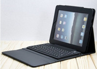 Wholesale Bluetooth Wireless Keyboard leather case for Ipad New ipad ipad3 ipad2 Tablet PC Stand