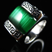 Wholesale Fashion Rings Stainless Steel Men Ring Jewelry Rings Emerald Gemstone Ring Rings For Sale Mixed R37