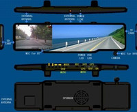 Wholesale New Multi languange Car GPS Rear View Mirror Bluetooth DVR GB Cards Radar Parking Sensor Reversing Camera