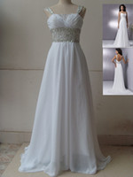 Wholesale Stock Spaghetti strap Waist Beaded Prom Dresses Party Pageant Bridal Gowns Back LACE UP SIZE4