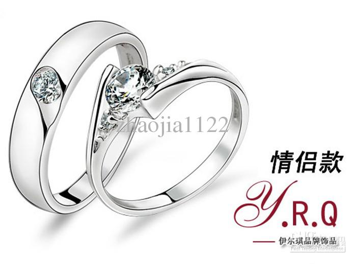 Silver Rings For Boys Fashion silver couple ring