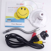 Wholesale Mini Smile Face Sports HD Car DVR amp Video Camera with TV out Function