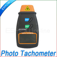 Wholesale Non Contact Digital Photo Tachometer Laser RPM Tester Tach Meter New Y1010A