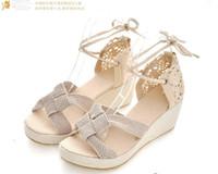 Women ancient shoes - 2012 summer newest Fish mouth Bohemian Restore ancient ways women sandal calceus shoes size